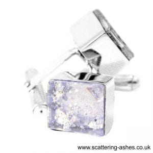 Silver Ashes Cufflinks
