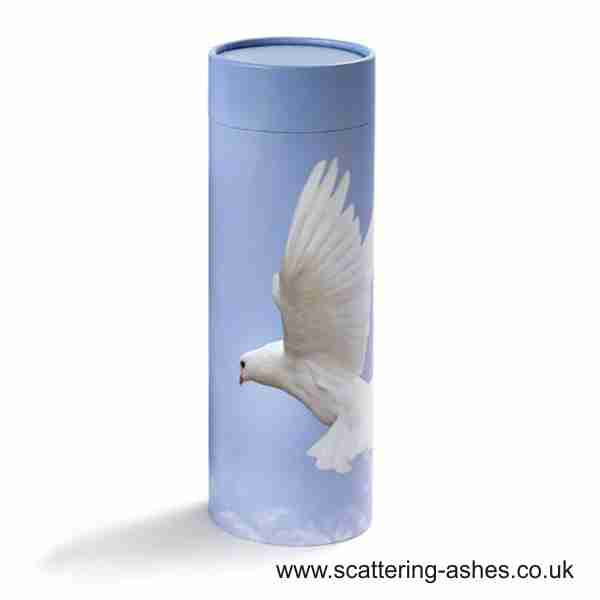 Peace Dove Scatter Tubes