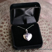 Engraved Heart Memorial Necklace