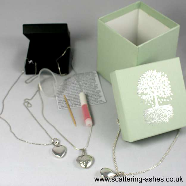 memorial jewellery silver ashes jewellry