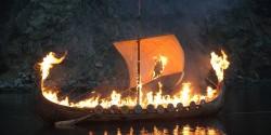 viking urn ashes