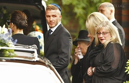 david beckham grandfather ashes