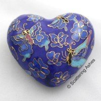 Cloisonne Keepsake Heart: Blue Butterfly