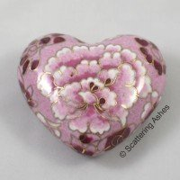 Cloisonne Keepsake Heart: Pink Bloom