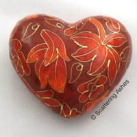 Cloisonne Keepsake Heart:  Autumn Leaves