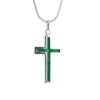Cross Ashes in Glass Pendant