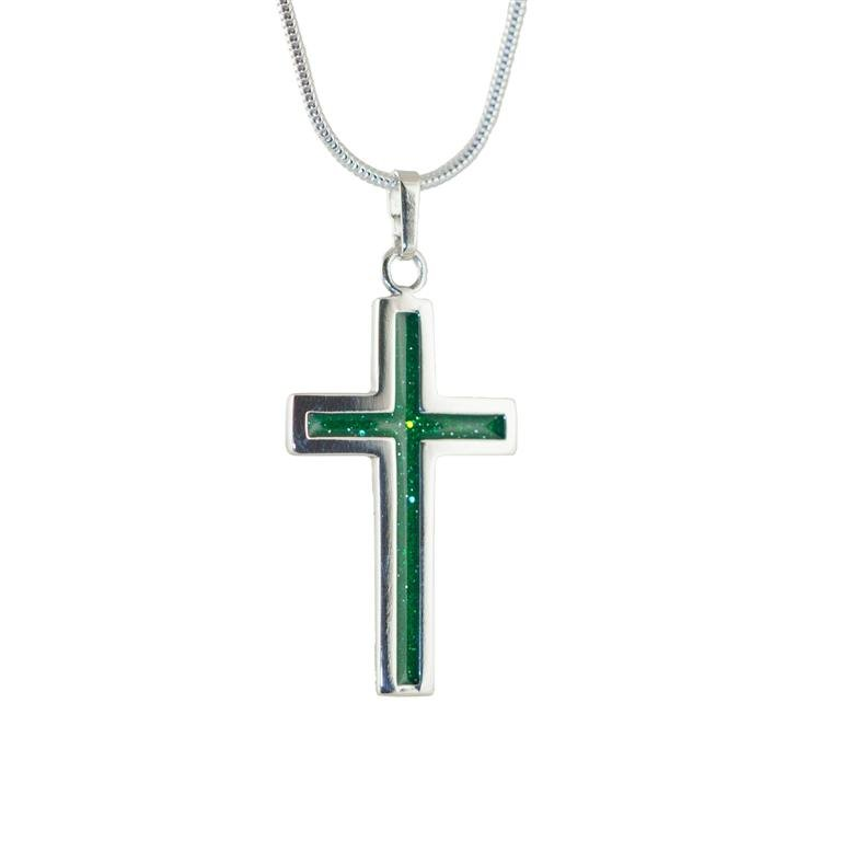 Ashes in glass pendant silver or gold cross scattering ashes cashes in glass pendant mozeypictures Images