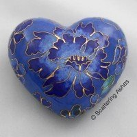 Cloisonne Keepsake Heart: Spring Blue