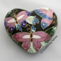 Cloisonne Keepsake Heart:  Radiant Butterfly