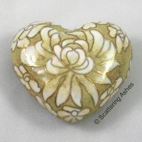Cloisonne Keepsake Heart: Golden Summer
