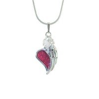Heart Under Angel's Wing Pendant