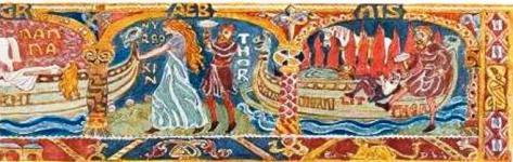 thor dwarf giant push viking longboat hringhorni