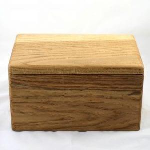 ashes natural wood cremation urn handmade in devon