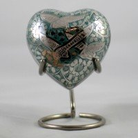 Brass keepsake heart: Purbeck Flight