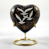 Brass Keepsake Heart: Going home