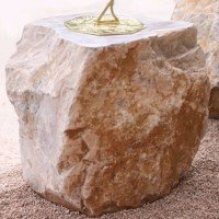 Carved Memorial Stone Sundial