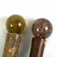 Walking Stick: Ashes in Glass Topper