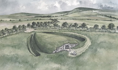 columbarium long barrow for ashes near stone henge