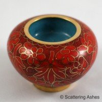 Cloisonne Memorial Candle Holder:  Autumn Leaves