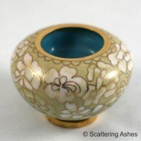 Cloisonne Memorial Candle Holder:  Golden Summer