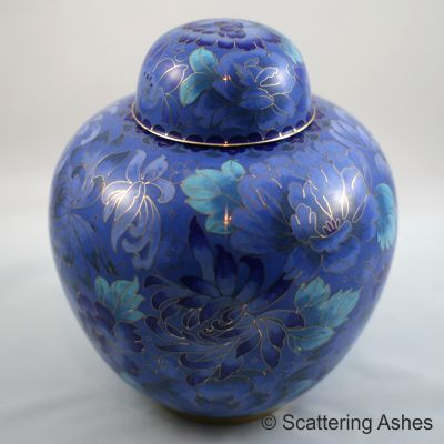 cremation urn ashes