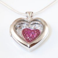 Silver Memorial Heart Locket