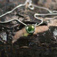 Iridescent Memorial Glass Bead Pendant