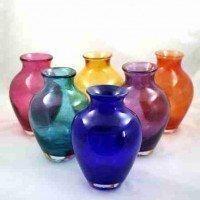 Memorial Glass Vase – Cherub