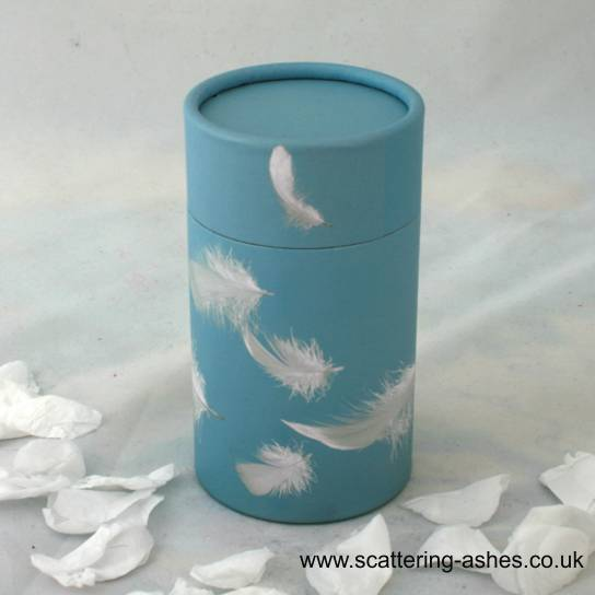 Blue Feathers Infant Scatter Tube