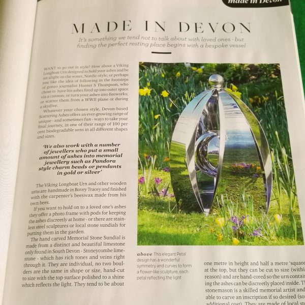 Devon Life article Made in Devon
