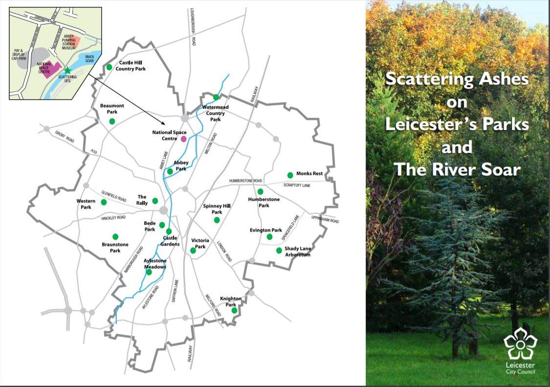 Leicester City Council Ash Scattering Sites Scattering Ashes