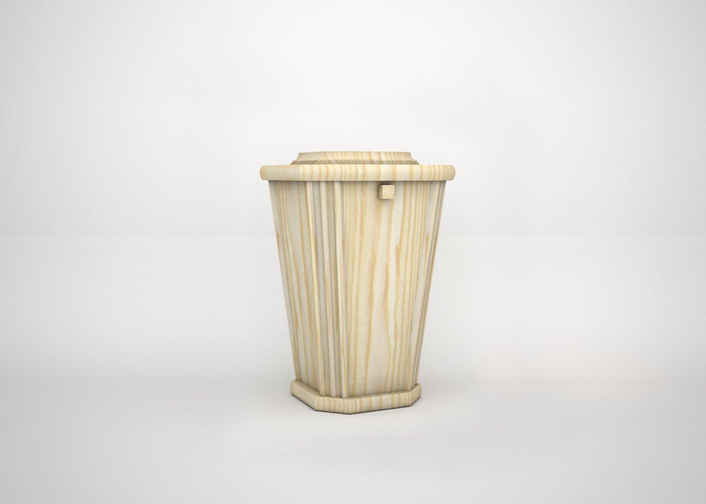 Cremation Niche Wooden Urn - Pine