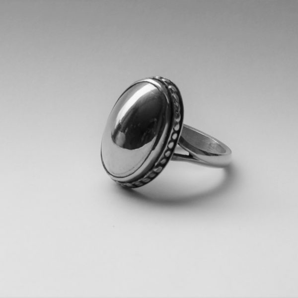 silver ashes ring