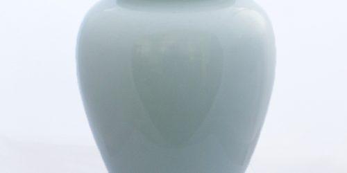 simple white urn